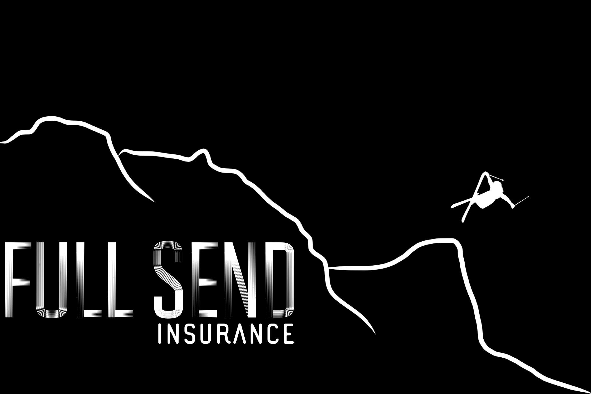 full send insurance logo design