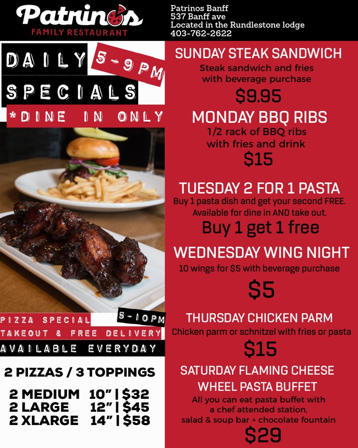 Daily Specials Flyer